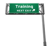 выйдите тренировка знака скоростного шоссе Стоковое Фото