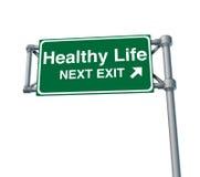 выйдите улица знака жизни хайвея скоростного шоссе здоровая Стоковое Изображение RF