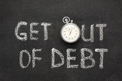 Выйдите задолженности Стоковая Фотография