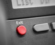 Выйдите кнопка телефона стоковое фото rf