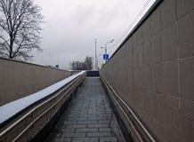 Выйдите от пешеходного подземного перехода Стоковое фото RF