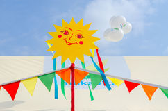 Выйдите стойл вышед на рынок на рынок JSC Milkavita на праздненствах Shrovetide Стоковая Фотография