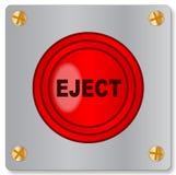 Выкиньте кнопку на металлической пластине на белой предпосылке иллюстрация вектора