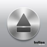 Выкиньте кнопку с почищенной щеткой текстурой металла на серой предпосылке бесплатная иллюстрация
