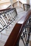 выкованная замотка лестницы рельса Стоковые Фото