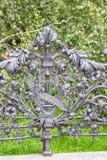 выкованная решетка парка в Варшаве стоковые фотографии rf