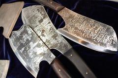 Выкованные ножи тяпки Стоковые Изображения