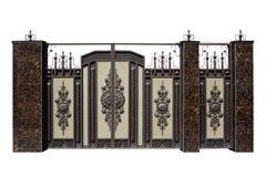Выкованные стробы и дверь с оформлением Стоковые Фотографии RF