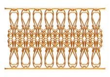 Выкованный декоративный орнамент строба изолированный на белой предпосылке Стоковая Фотография