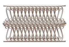 Выкованный декоративный орнамент строба изолированный на белой предпосылке Стоковое фото RF