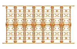 Выкованный декоративный орнамент строба изолированный на белой предпосылке Стоковые Фото