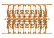 Выкованный декоративный орнамент строба изолированный на белой предпосылке Стоковые Фотографии RF