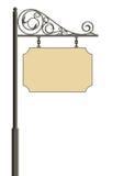 выкованный signboard Стоковое фото RF