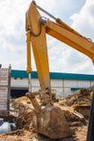 Выкопайте отверстие для санитарного танка Стоковые Изображения RF