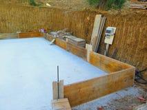 Выкопанное вне низкопробное для нового дома в андалузской деревне Стоковая Фотография RF