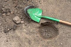 выкопанный лопаткоулавливатель отверстия Стоковое Изображение