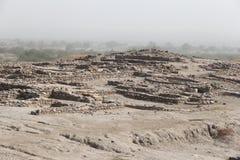 Выкопенная экскаватором цивилизация Harappa стоковое фото
