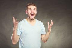Выкрикивать человека в воздухе Стоковое фото RF