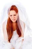Выкрики красивейшие red-haired невесты стоковое изображение rf