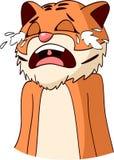 Выкрик тигра шаржа Стоковая Фотография