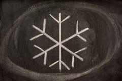 выкристаллизовыванная наглядная вода снежка знака Стоковое Изображение RF