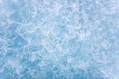 Выкристаллизовыванная поверхность льда Стоковая Фотография
