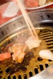 выкружка барбекю стоковое изображение