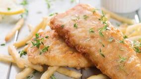 Выкружка рыб с французскими Fries акции видеоматериалы