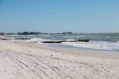 Выключатели прилива вниз приставают к берегу в Clearwater Стоковая Фотография RF