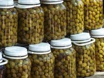 вылеченные оливки Стоковые Изображения