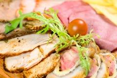 вылечено режущ мясо стоковое фото