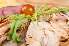 вылечено режущ мясо стоковое изображение rf