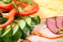 вылечено режущ мясо стоковое изображение