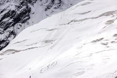 Вымачивайте наклон льда и экспедицию альпинизма Стоковые Изображения