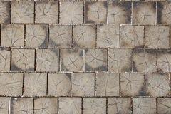 Вымощающ плитку сделанную из древесины с естественной предпосылкой картин Стоковые Фото