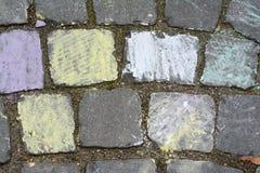Вымощая камень с украшением чертежа руки Стоковые Фотографии RF