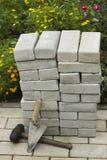 Вымощая камни в куче Стоковое Изображение