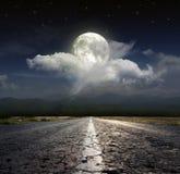 Вымощенная дорога Стоковая Фотография