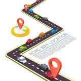 Вымощенный путь на дороге иллюстрация вектора