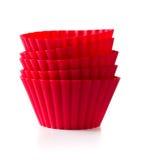 выпечка придает форму чашки силикон Стоковое фото RF