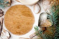 Выпечка рождества и праздника, готовый шаблон Стоковые Изображения