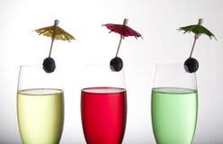 выпивает зонтики стоковое фото rf