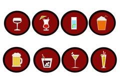 выпивает икону Стоковое фото RF