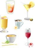 выпивает иконы Стоковые Фото