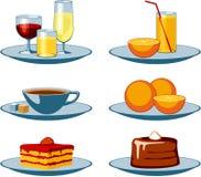 выпивает помадки икон еды Стоковые Фотографии RF