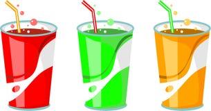 выпивает соду иллюстрация вектора