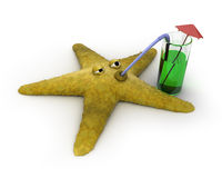 выпивает starfish сока Стоковая Фотография RF