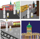 Выпивать в Санкт-Петербурге Иллюстрация вектора
