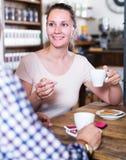 выпивать пар кофе кафа Стоковые Изображения