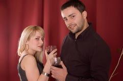 выпивая вино Стоковое Изображение RF